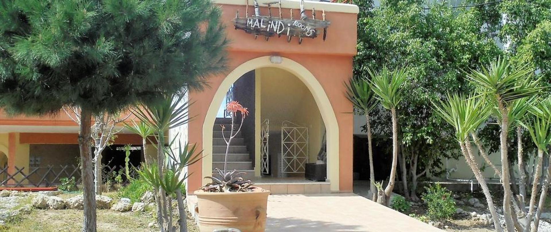 Malindi Rooms entrance