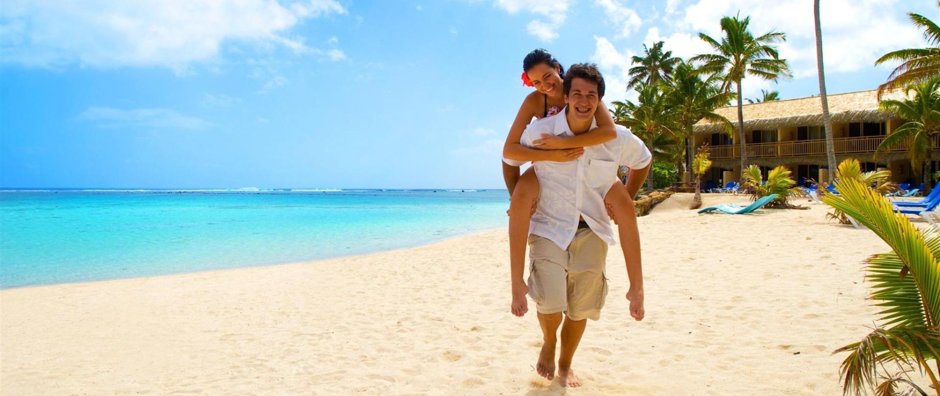 Heiligtum Rarotonga am Strand