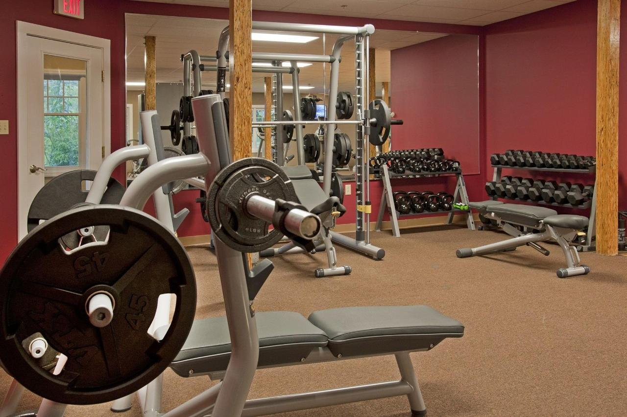 Powered by TechnoGym Equipment & Free Weights to 70 lbs!
