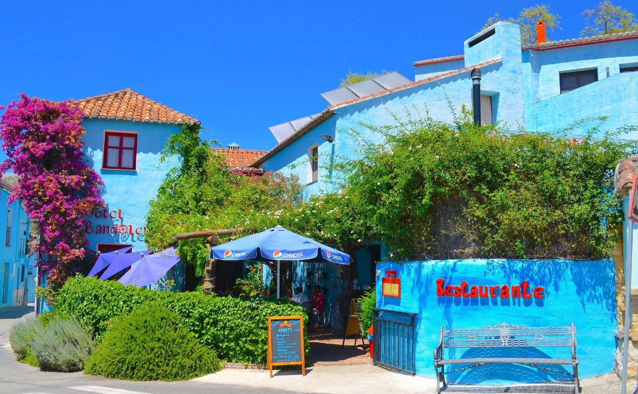 Hotel Bandolero, primary entrance & bar terrace