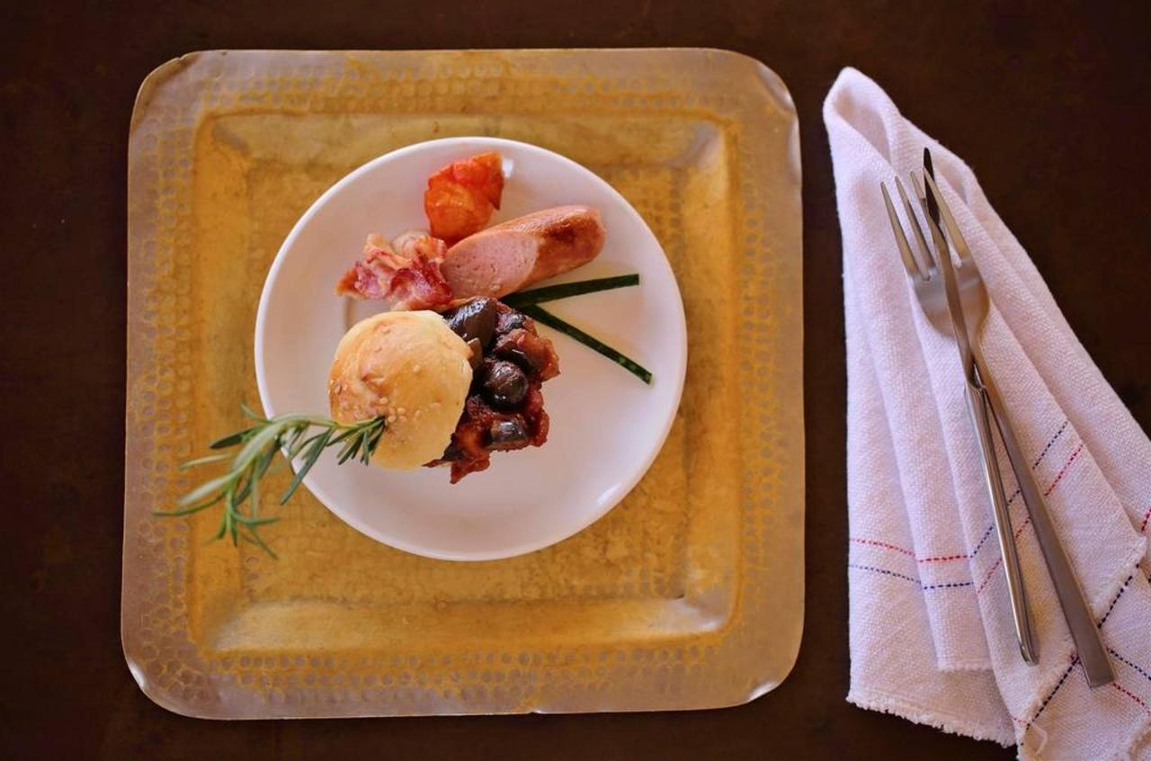 Caponata, roasted sausage and crispy bacon.jpg