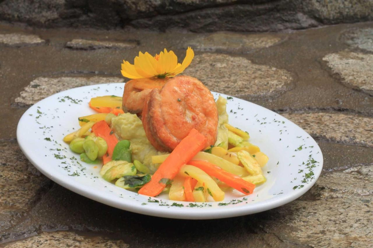 Trout medallions with lima beans pure.JPG