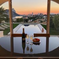 Comfortable Villa LEVADIA near to the beach with the swimming pool & view to the Rock Ifach in Calpe