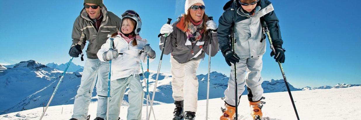 Famiglia sulla Neve