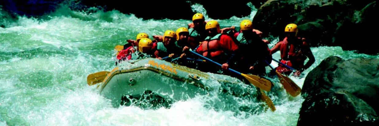 White water rafting on the Trancura River