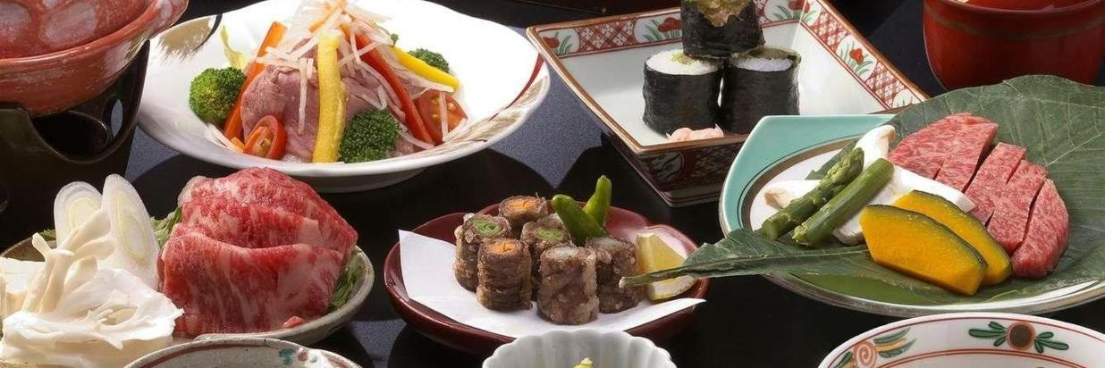 Array of Hida Beef-Centric Meal