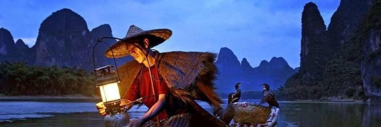 Cormorant Fishing at Night on the Li River