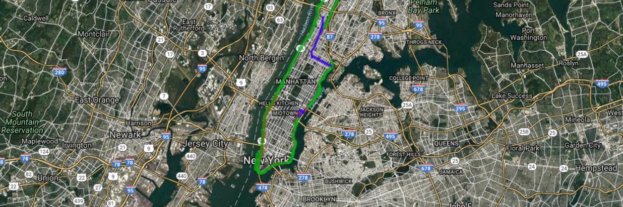 Manhattan Waterfront Greenway- Bike Map