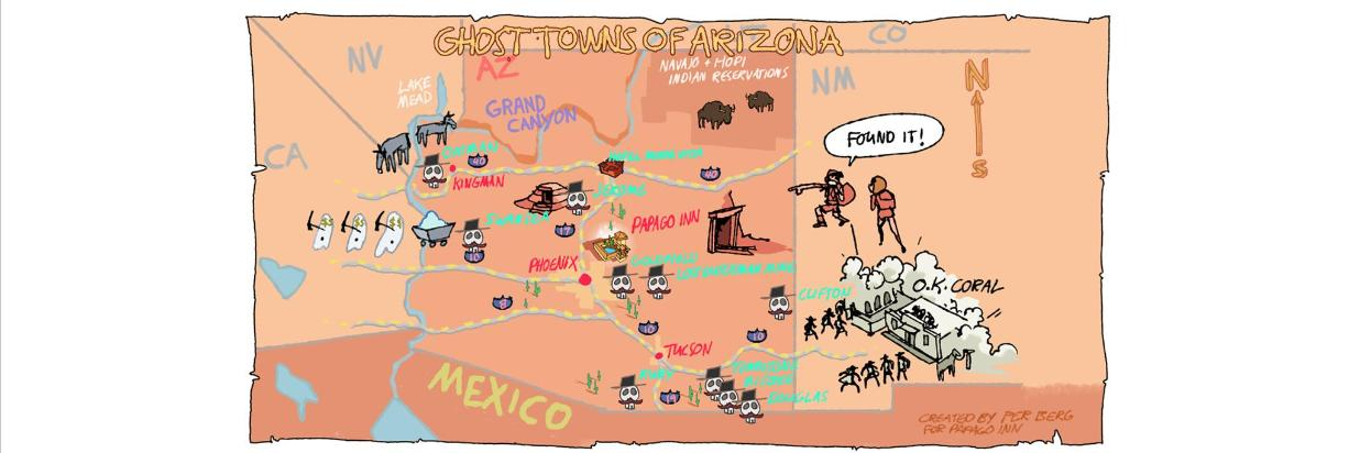 Map Of Arizona Towns.Arizona Has Hundreds Of Ghost Towns And Here Are The Top Ten