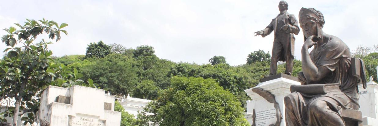 Cementerio Patrimonial de Guayaquil - Hotel Jeshua - Mausoleos - Esculturas