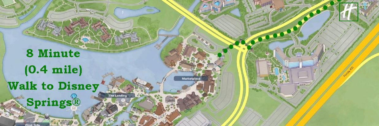 Walt Disney World Map With Hotels.Disney Benefits Holiday Inn Orlando Disney Springs Area