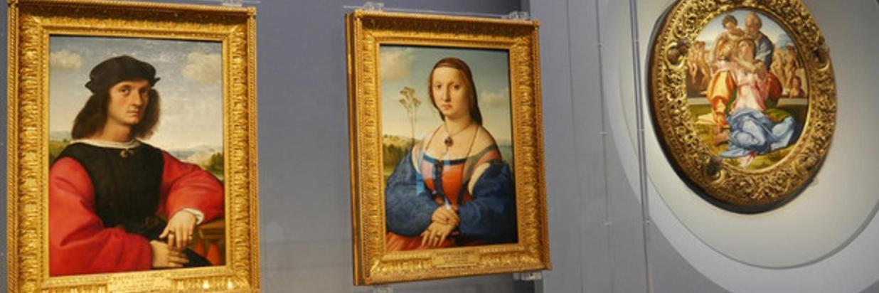 Uffizi: Tondo Doni e la Madonna del cardellino