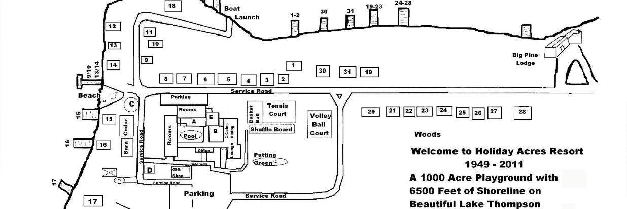 Holiday Acres Site Map