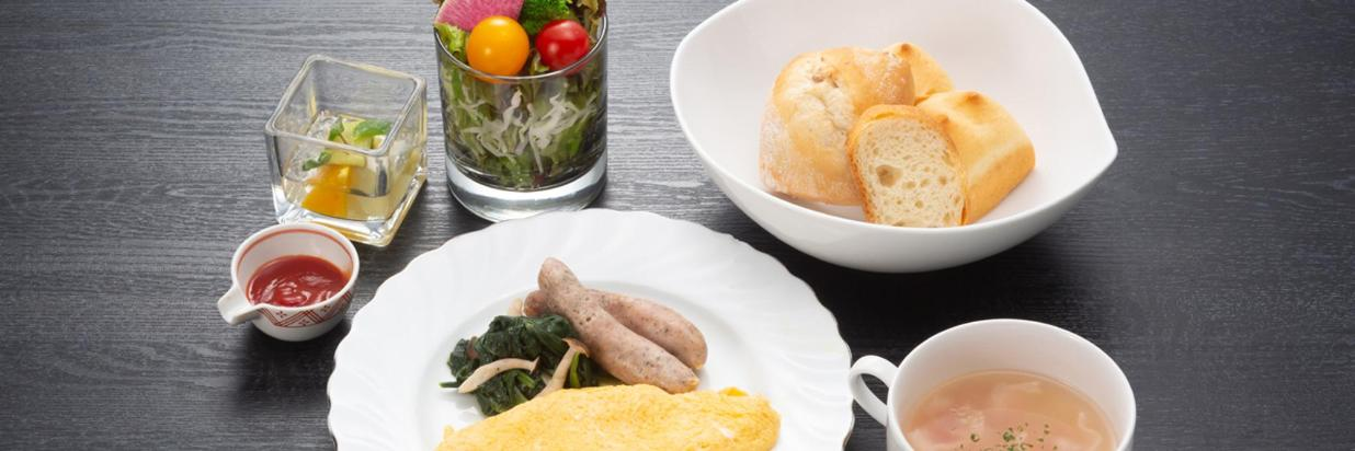 秋の洋朝食一例
