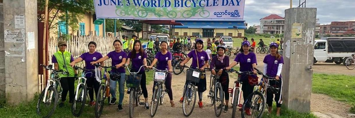Participation on the World Bicycle Day in Nyaung Shwe.