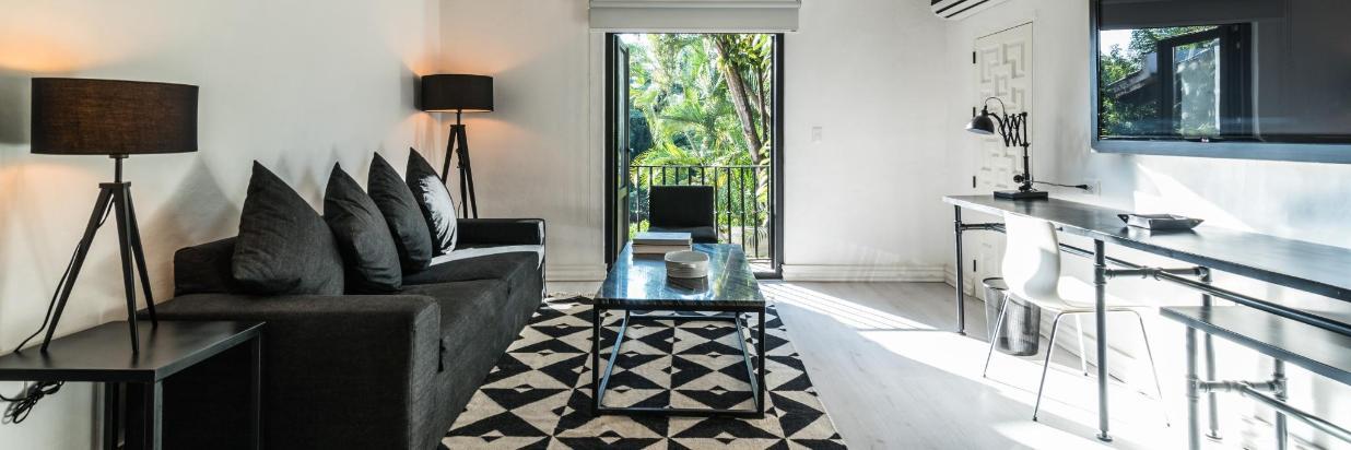 Habitaciones modernas con una decoración contemporánea. Las Casas B+B Boutique Hotel, Spa & Restaurante en Cuernavaca