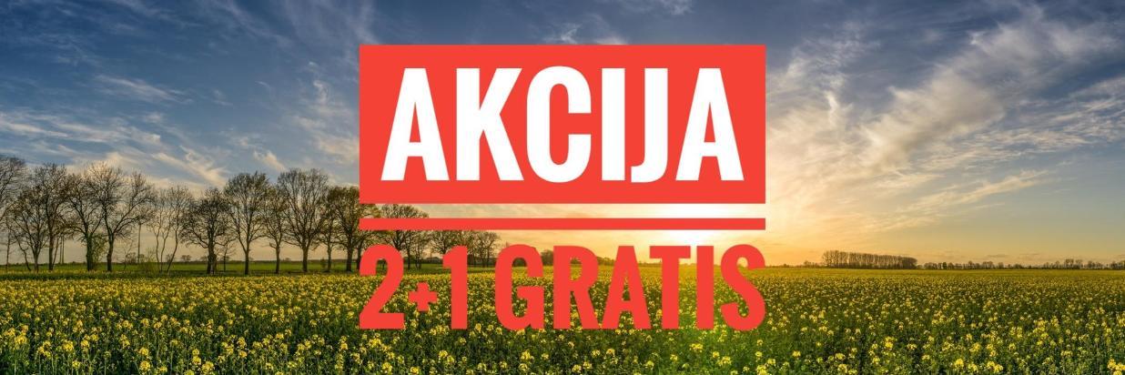 AKCIJA 2+1 GRATIS