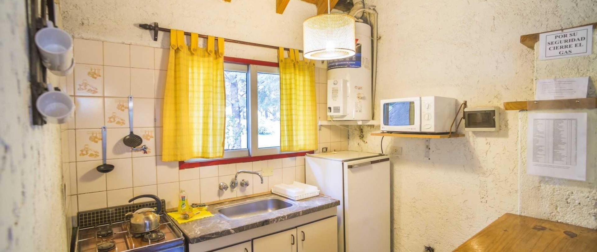 Kitchen in a cabin at Cabañas Del Pastizal, Uspallata, Mendoza Province, Argentina-2