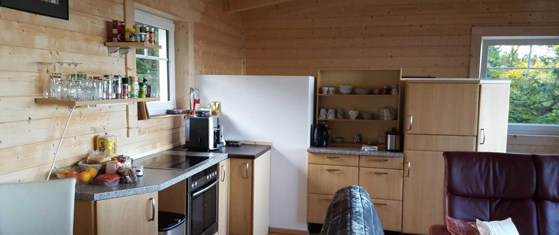 kitchen at lake view suite