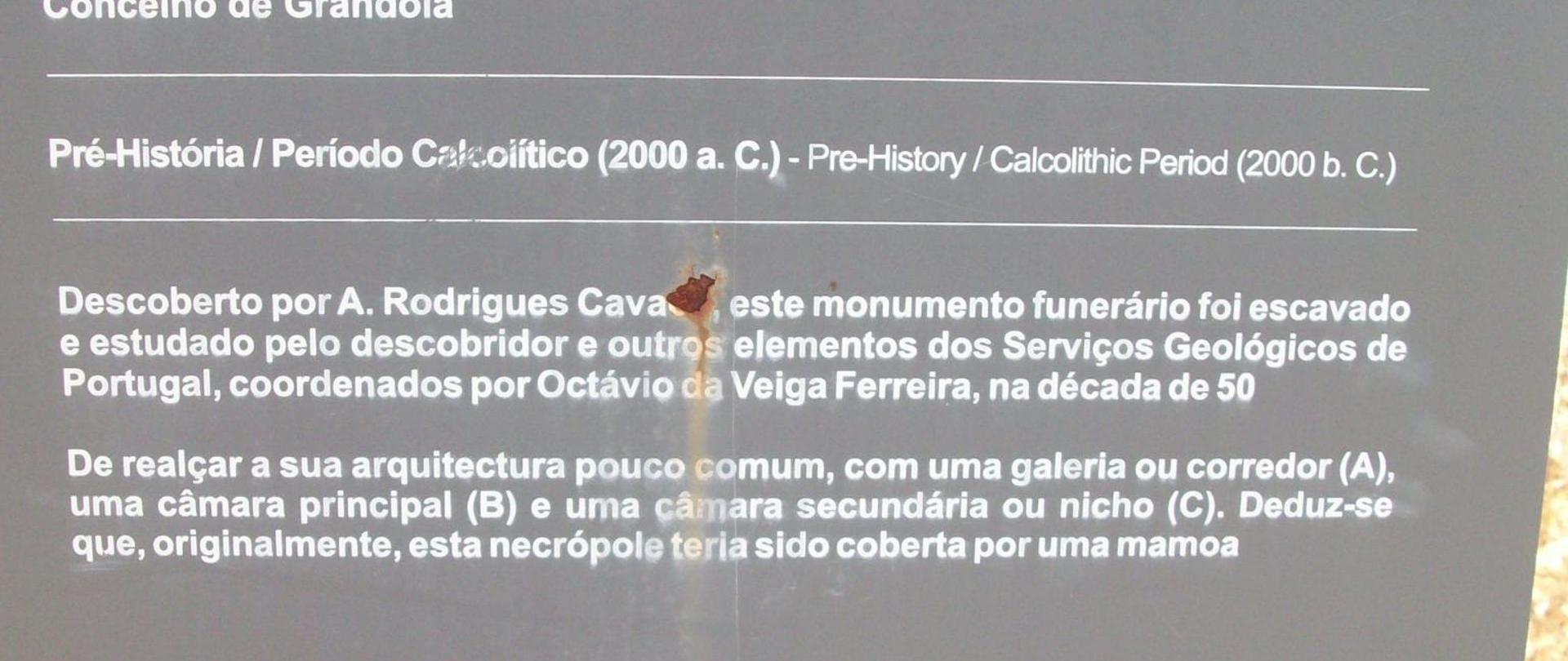 Monumento megalítico do Lousal, 2000ac