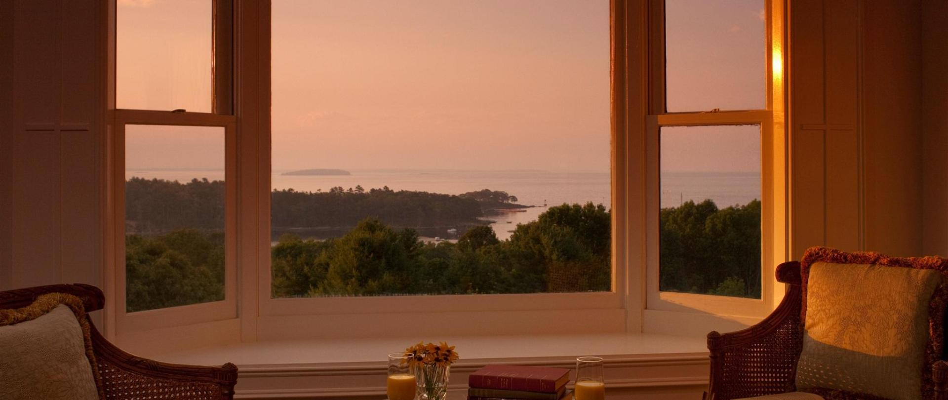 Norumbega Penthouse Suite view of Penobscot Bay