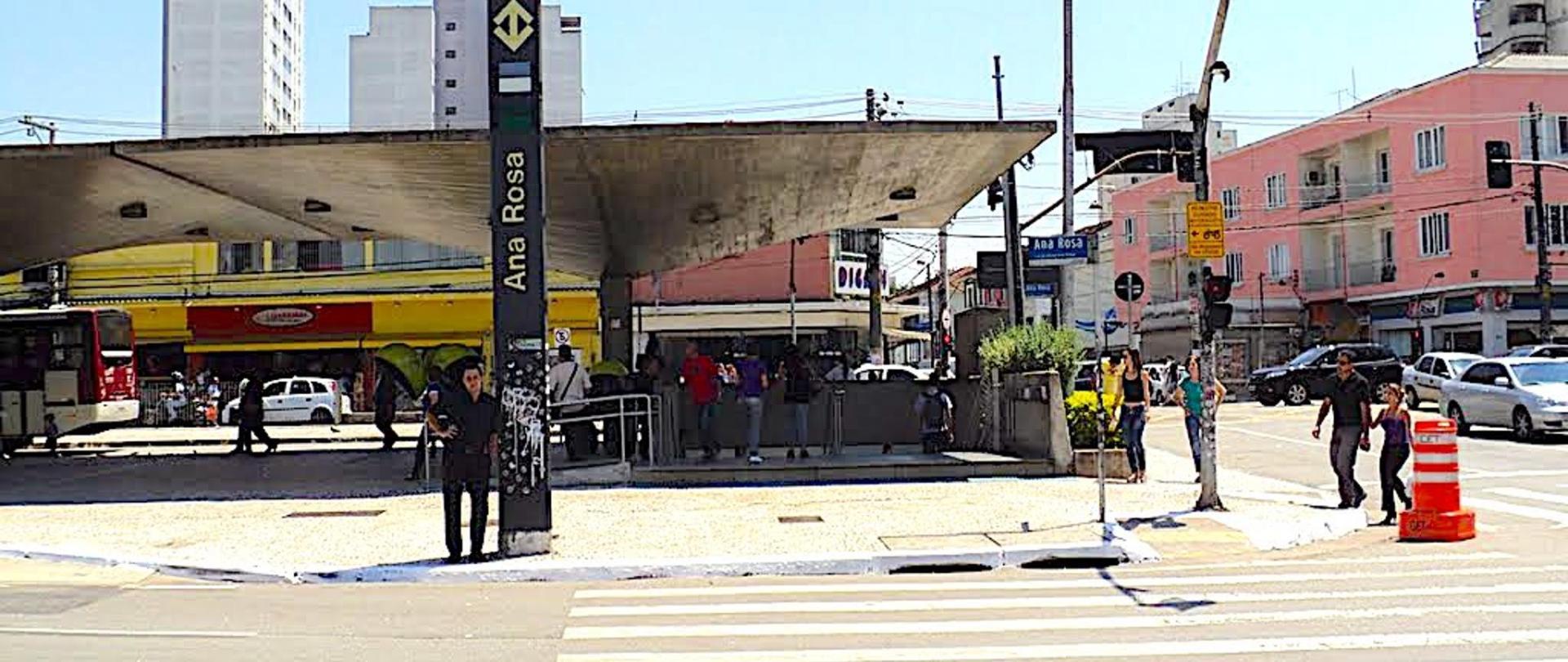 Acessso Estação Ana Rosa a 200 metros do Hotel