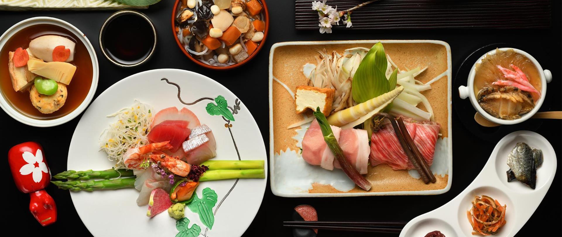일본 회석 요리 일례
