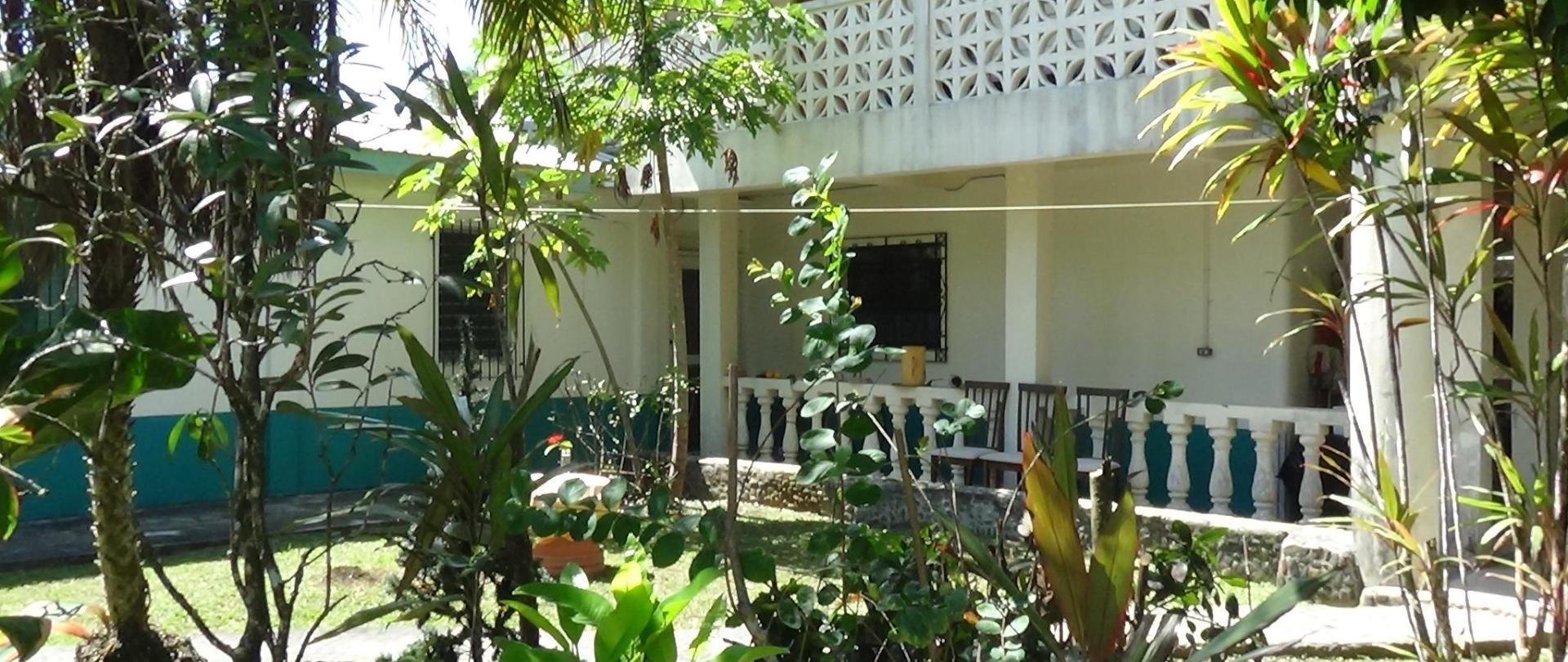 Facade of guesthouse