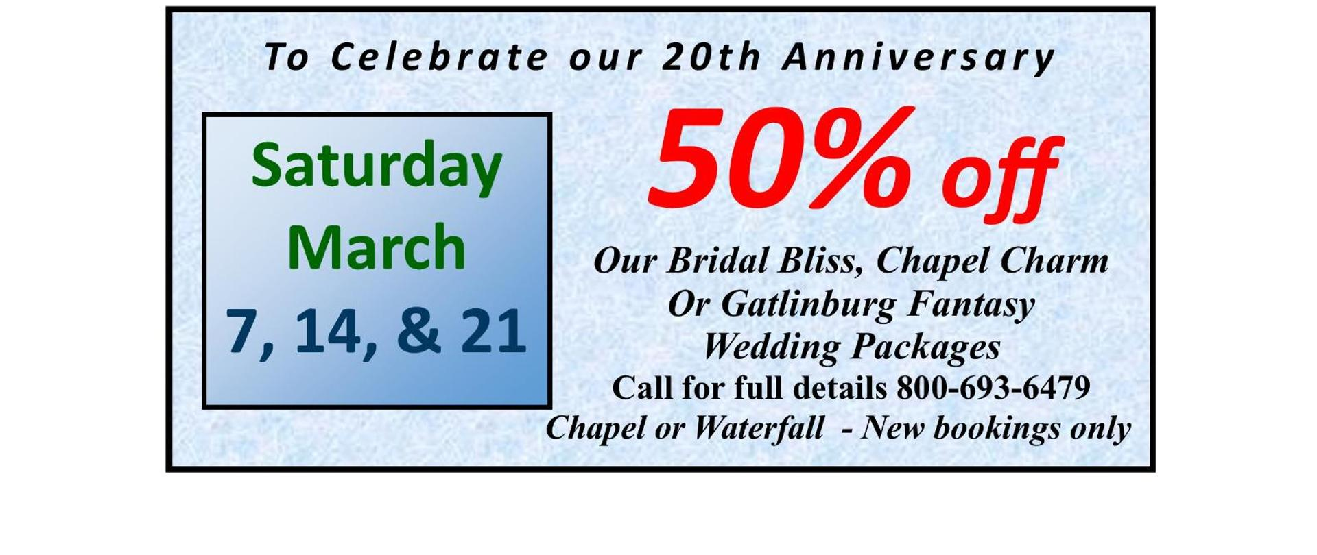 GWC - 20 year anniversary coupon Saturdays in March 2020.jpg