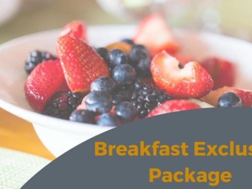 Stay 3 nights and save 15% with free breakfast for two