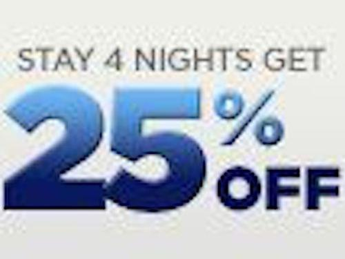 Stay 4 nights and save 25%
