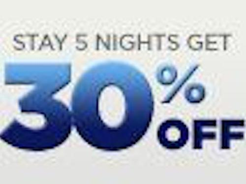 Stay 5 nights and save 30%