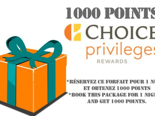 Forfait 1000 Points Bonis Choice Privileges!