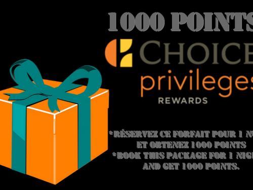 Choice Privileges 1000 bonus Points Package!