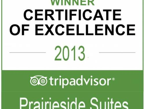 Prairieside Suites wins TripAdvisor