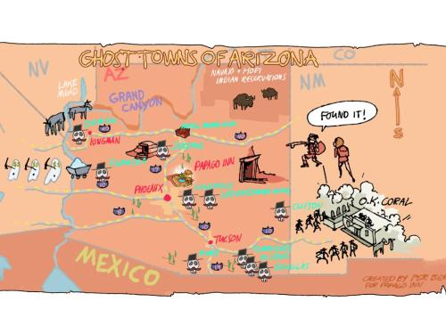 Map Of Arizona Mines.Arizona Has Hundreds Of Ghost Towns And Here Are The Top Ten
