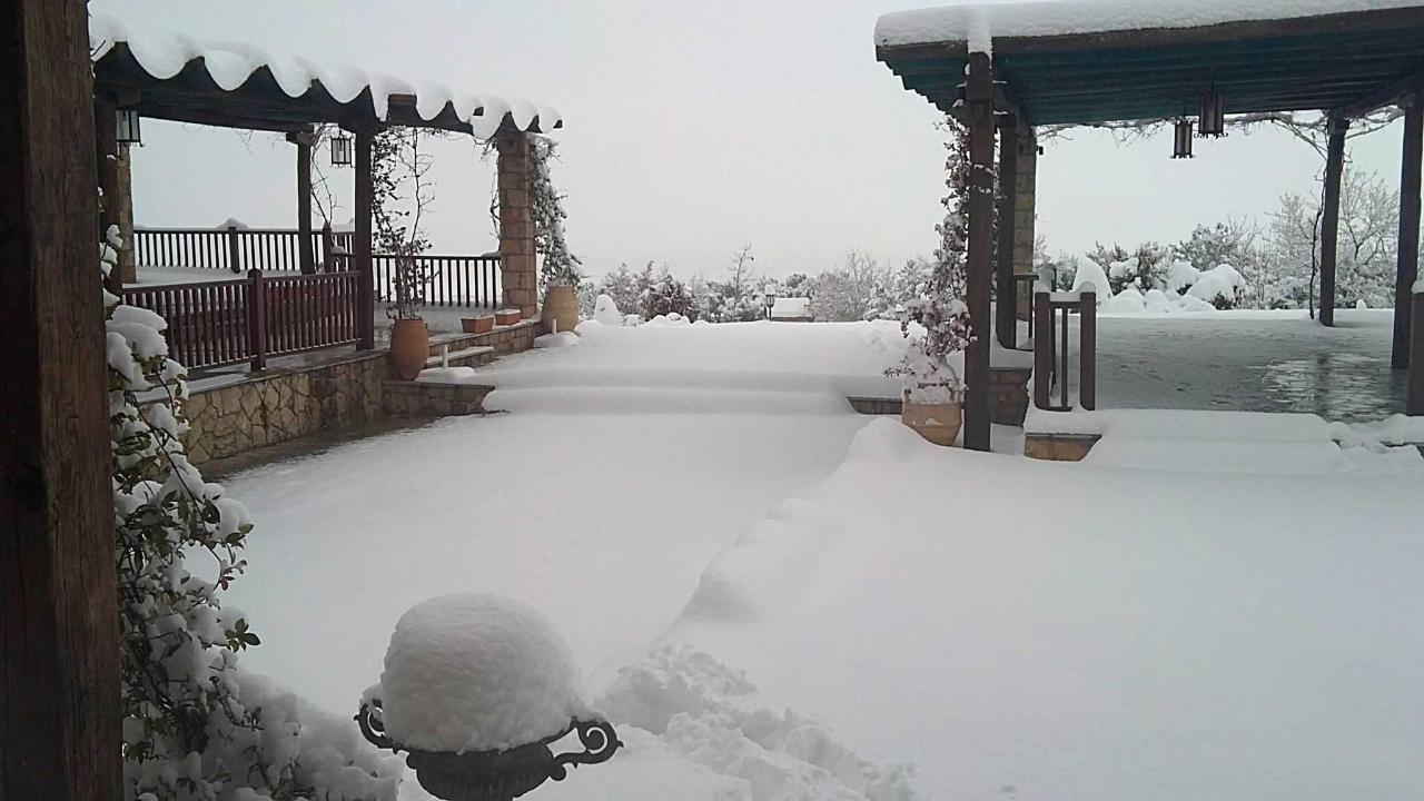 Schnee Terrasse
