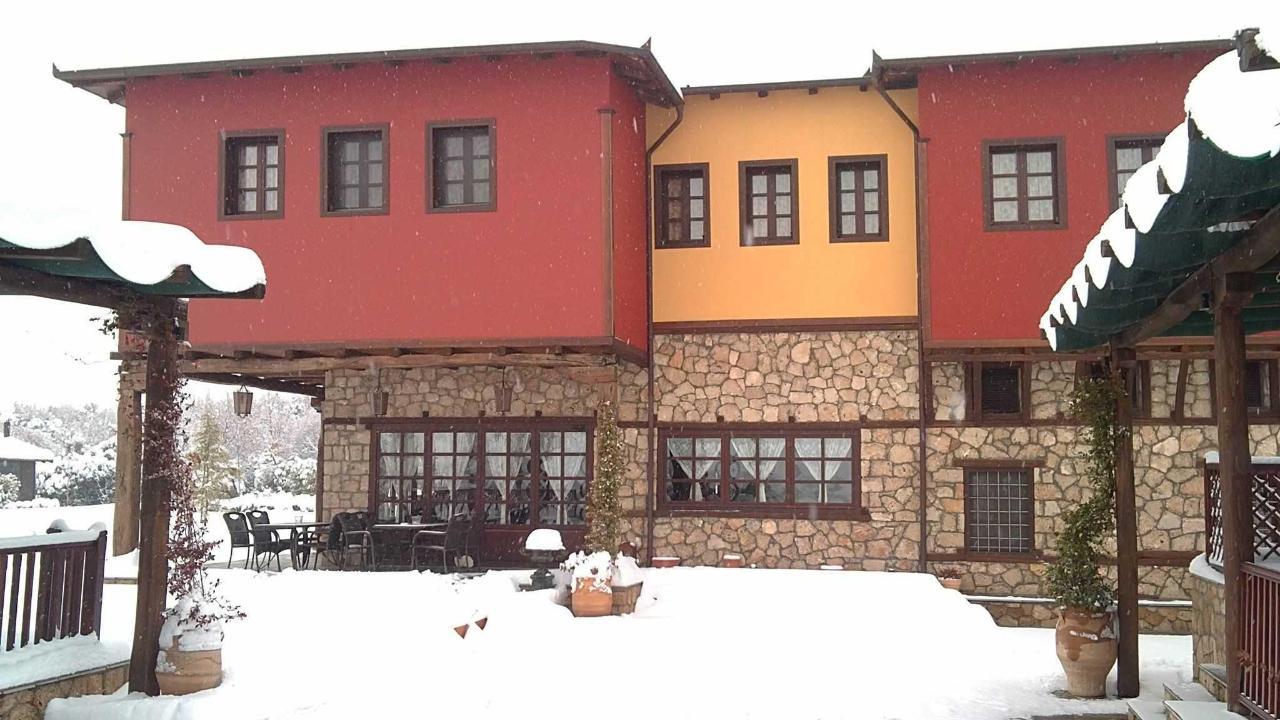 snö terrass