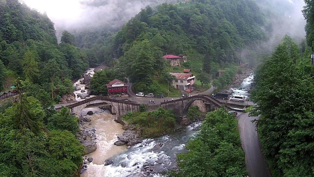 Doble puente - doble puente Kemer en el pueblo de Rili, Küçükköy, Ortaçalar, Çamlıca y Başköy