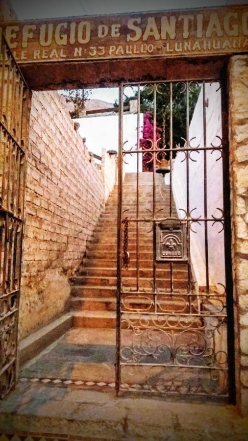 escalera de entrada al ecolodge
