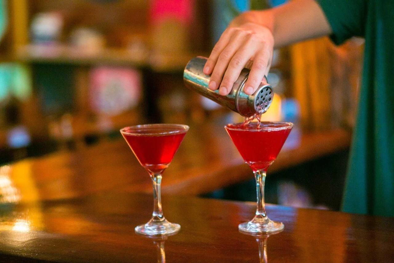 Gute Laune garantiert - zwischen Palmen und Strand Cocktails trinken.