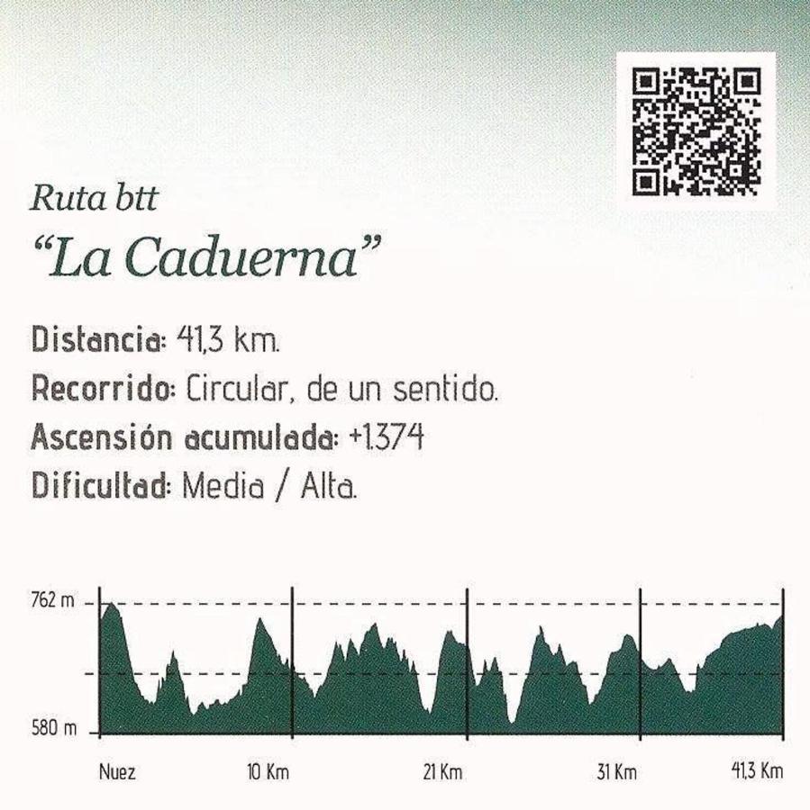 Ruta BTT La Caduera, en Nuez de Aliste
