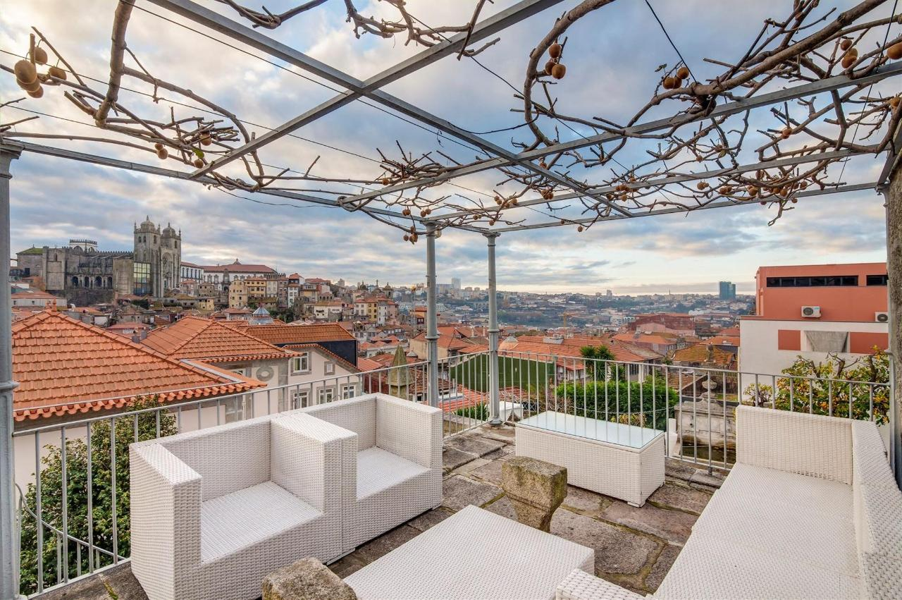 Beautiful hotel corners at Flores Village Hotel & Spa with stunning views over Porto