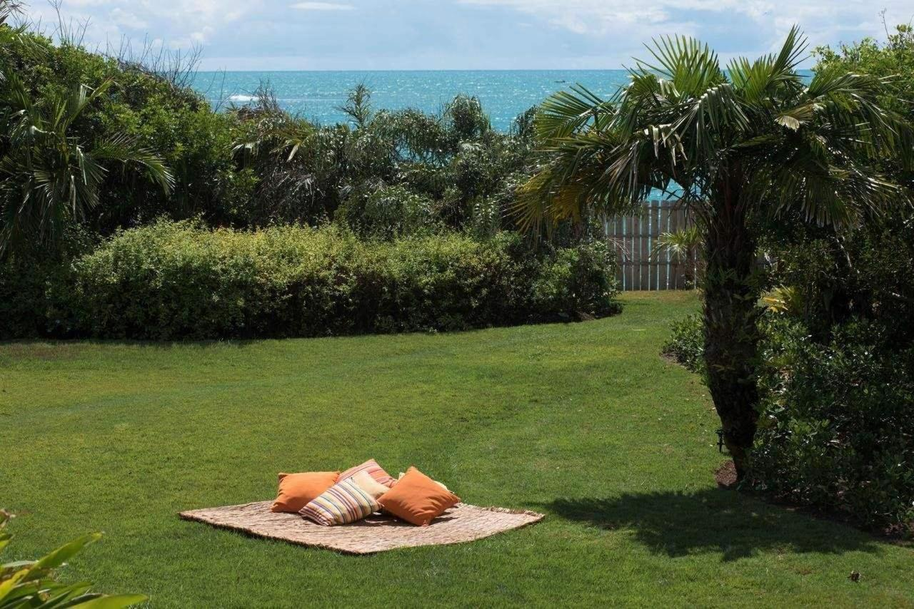 Lawn, overlooking the beach