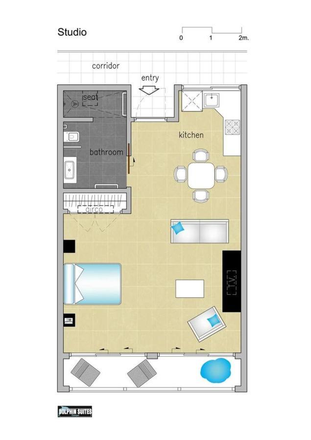 Floorplan Studio, Floor Plans, Dolphin Suites, Willemstad, Curaçao.jpg