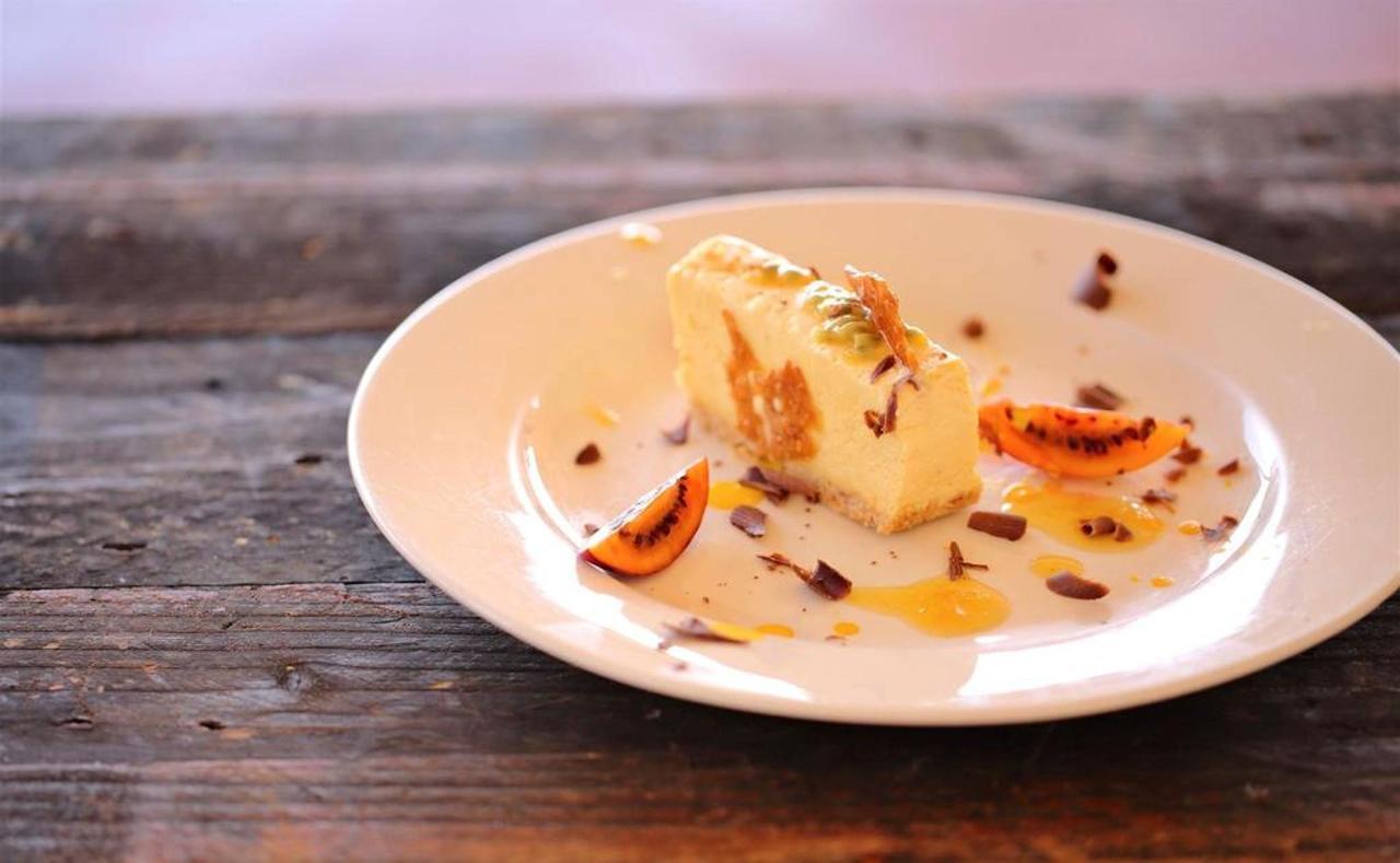 Passion fruit parfait chocolate orange and passion fruit reduction with tree tomato.jpg