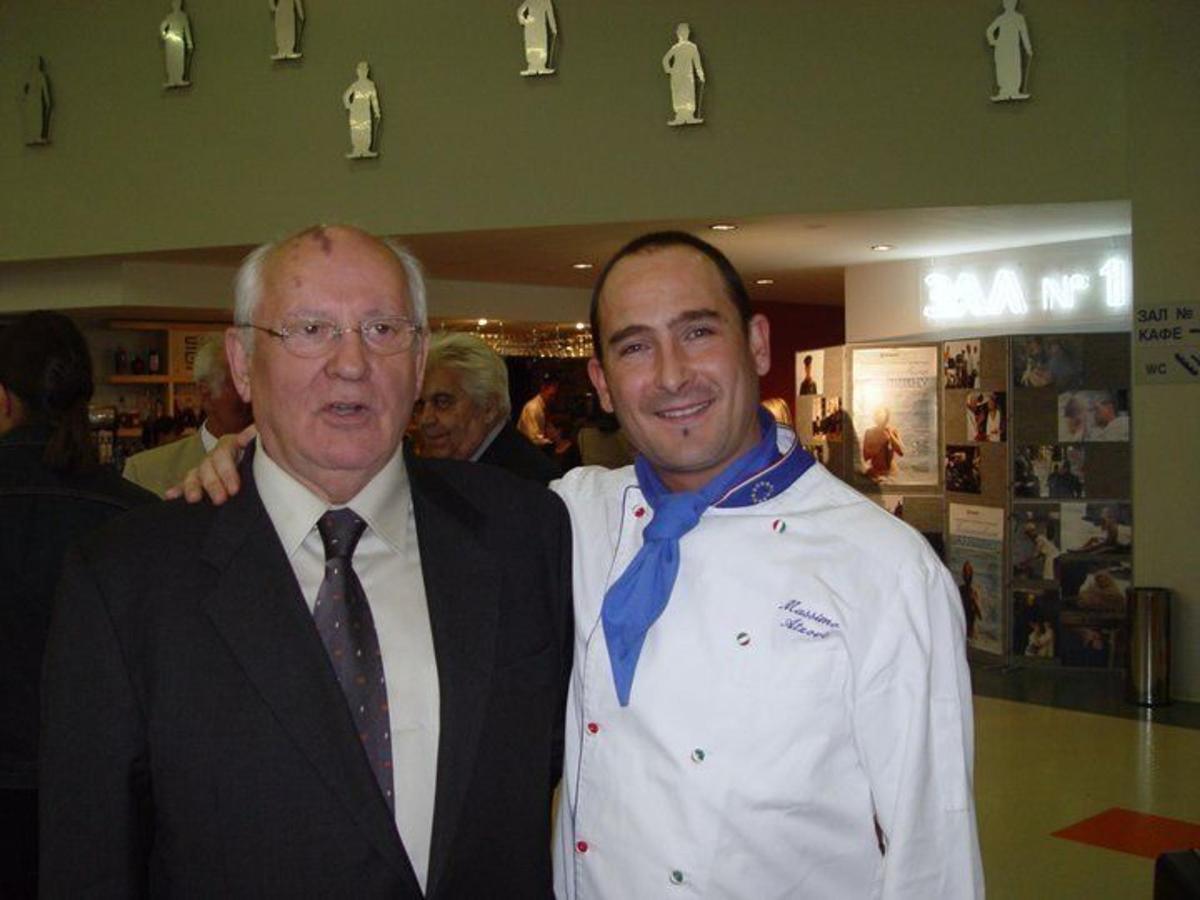 Lo chef Max con MR GORBACIOV