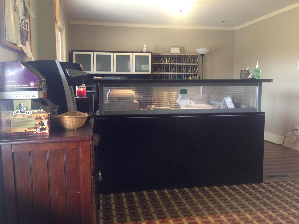 Front desk and lobby coffee machine