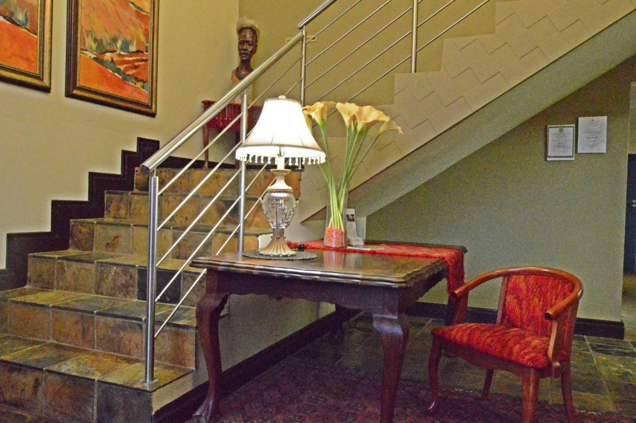 Lobby with staircase