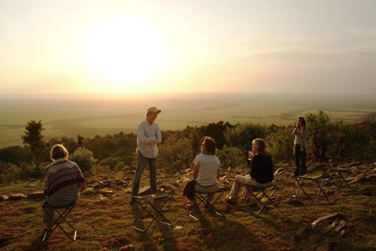 Sundowner on the highest point in the Mara, next to Saruni.jpg